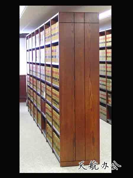 书架(实木造型护板)-图书馆书架/智能书架-密集柜